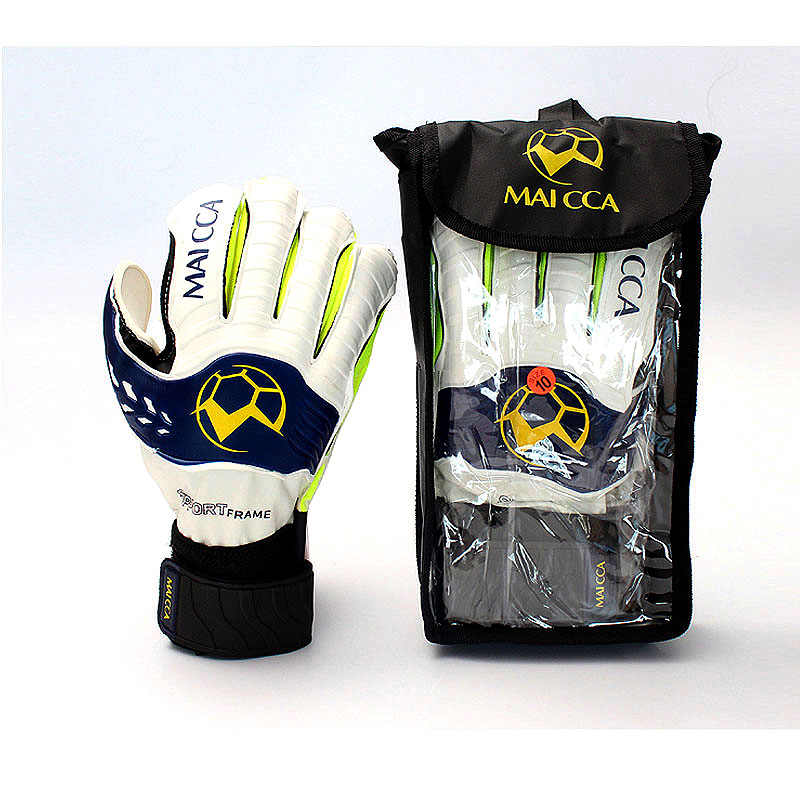 MAICCA 大人のサッカーゴールキーパー手袋プロサッカーサッカー指保護サッカーラテックス