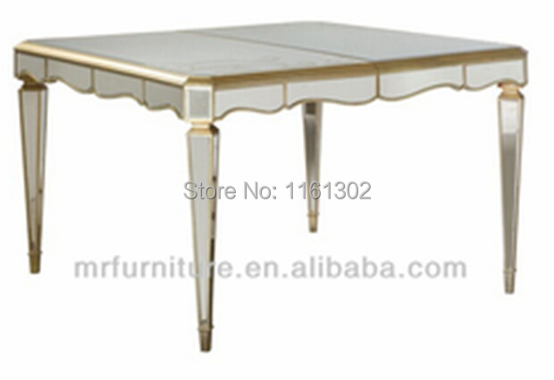 Mr 4t0097 Mirrored Dining Furniture Square Dining Table In Coffee Tables From Furniture On