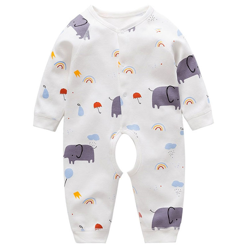 Newborn infant baby boys girls clothes animal cotton suit jumpsuit for baby boys girls clothing outfit wear sports sets rompers baby boys newborn pajamas outfit animal elephant long sleeve baby clothes boy suit baby sleepwear girl infant kids clothing sets