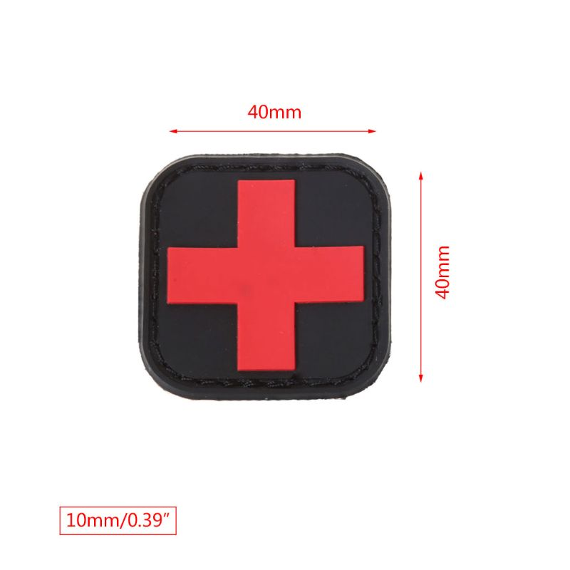 Tactical Armband First Aid Outdoor Hunting Medical Personnel Badge Brassard Red Cross Magic Sticker PVC Patch Morale Accessories in Safety Survival from Sports Entertainment