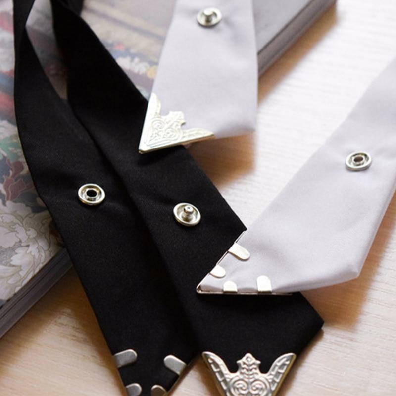 Mantieqingway Cross Bow Ties for Men & Women Solid Business Casual Cross Tie Formal Dress Men Wedding Metal Collar Cross Bowtie