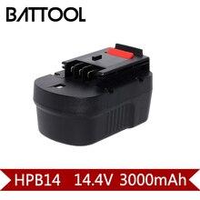 1X2000 mah 14.4 v Ni-MH Bateria Ferramenta De Poder de Substituição Para BlackNDecker HPB14 499936-34 499936-35 a144 A144EX A14 A14F HPB14