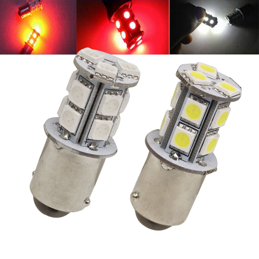 1156 13 SMD BA15S LED Bulb Lamp P21W R5W Turn Signal Reverse Lights Car Source Parking Light DRL Bulbs Free Shipping 2PCS/Lot