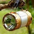 Luzes de acampamento ao ar livre super brilhante LED lanternas solares luzes portáteis