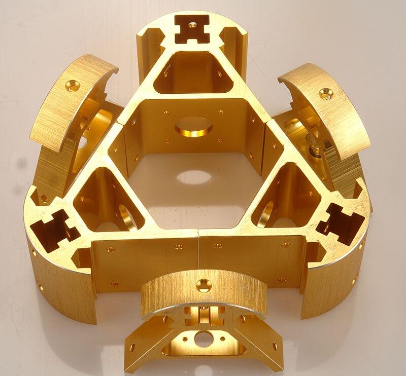 A Colorful all metal 3D Kossel printer 2020 aluminum alloy delta angle corner kit Kossel corner kit Fast ship