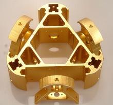 Un Coloré all metal 3D Kossel imprimante 2020 en alliage d'aluminium delta angle coin kit Kossel coin kit bateau Rapide