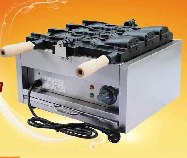 FY-1103B 220ボルトjapansesオープン口たい焼き機|電気魚の形ケーキ機|アイスクリームたい焼きメーカー