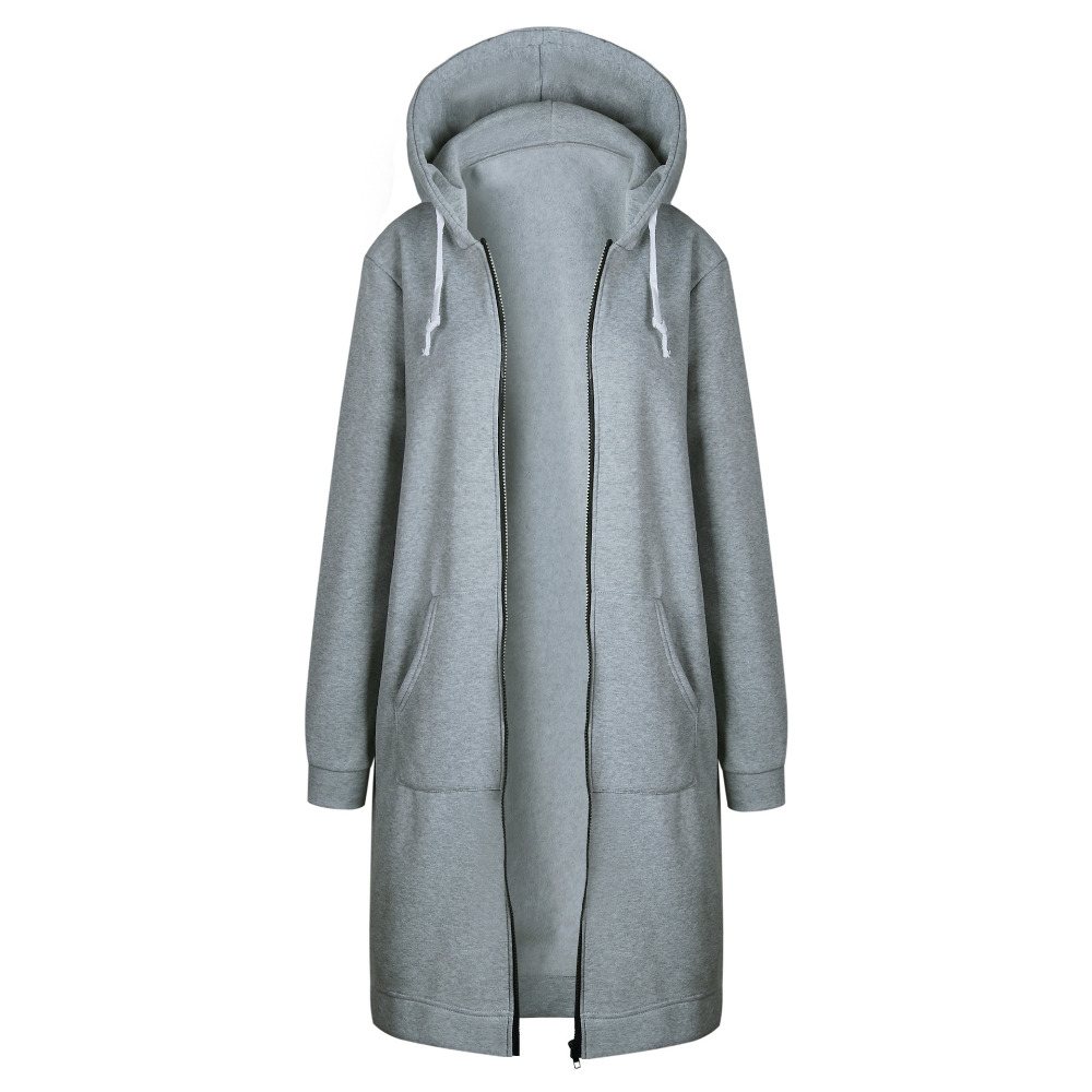 HTB1u27FXtHO8KJjSZFtq6AhfXXaQ Women Warm Winter Fleece Hooded Parka Coat Overcoat Long Jacket Women Outwear Zipper Female Hoodies S-5XL plus size sweatshirt