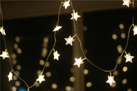 Новинка 100 м светодиодный прожектор 600 звезда светодиодный Праздничный Рождественский свадебный занавес украшения лампы