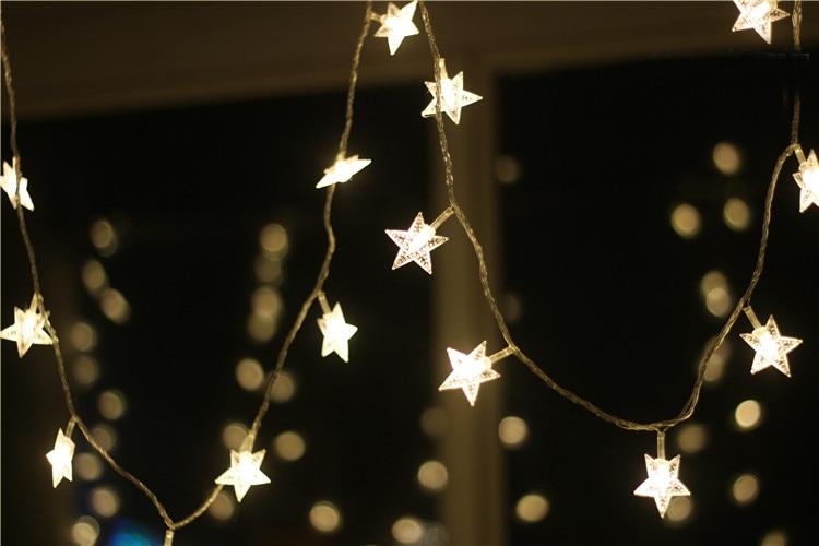 Nouveau 100 m LED bande de ficelle 600 étoiles LED vacances noël mariage rideau décoration lumières lampes