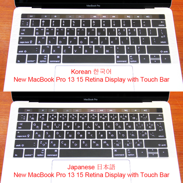 new style 2f25d 13069 US $4.79 40% OFF|Japanese Korean Silicone US&EU Keyboard Cover Keypad Skin  For 2016 New Macbook Pro Retina 13.3 15.4 Touch Bar and ID A1706 A1707-in  ...