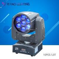 Işıklar ve Aydınlatma'ten Sahne Aydınlatması Efekti'de 10 adet/grup yakınlaştırma yıkama zoom hareketli kafa 7x12 W RGBW 4in1 LED hareketli kafa Mini DJ dmx sahne ışık