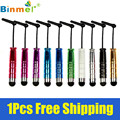 Binmer 1pcs Mini Capacitive Stylus Touch Pen with Jack Dust Cap Pen for Tablet and Smart Phone Feb26