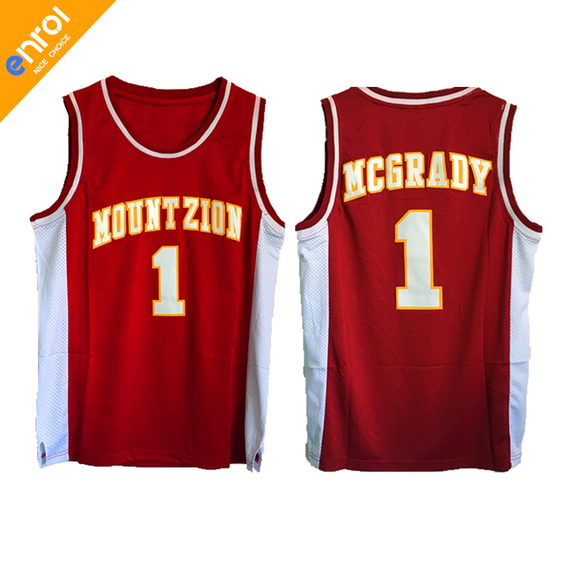 Retro Cheap T-Mac Tracy McGrady Basketball Jerseys 1  Mount Zion High  School Throwback Red Stitched Top Quality Shirts For Men 5e9f697e1