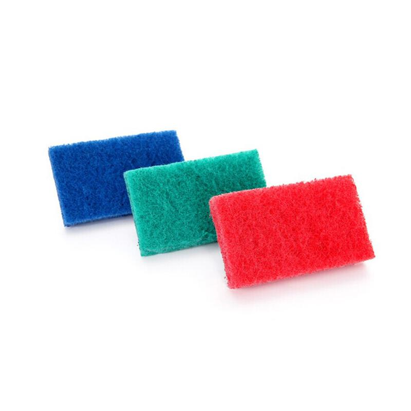 LUOEM Household Cleaning Sponge Brush Scrubber with Handle (Random Color)