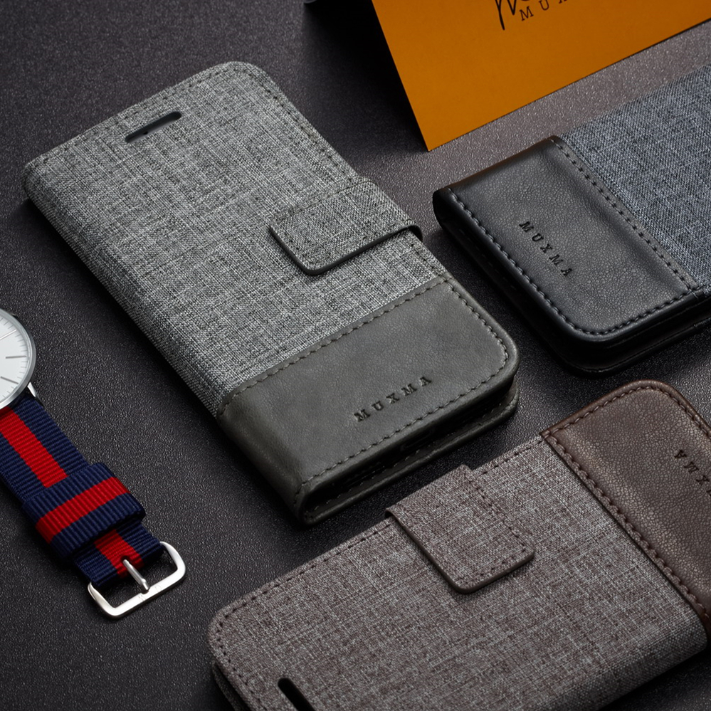 Case for iphone 6 6s Plus Premium PU leather + Canvas Business Style Wallet case Flip Cover Folio Case for iPhone 7 7 Plus
