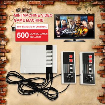 Mini telewizor ręczny wypoczynku rodzinnego konsola do gier wideo Port AV Retro wbudowany w 500 620 klasycznych gier podwójny Gamepad odtwarzacz do gier 01 tanie i dobre opinie NoEnName_Null 620 game