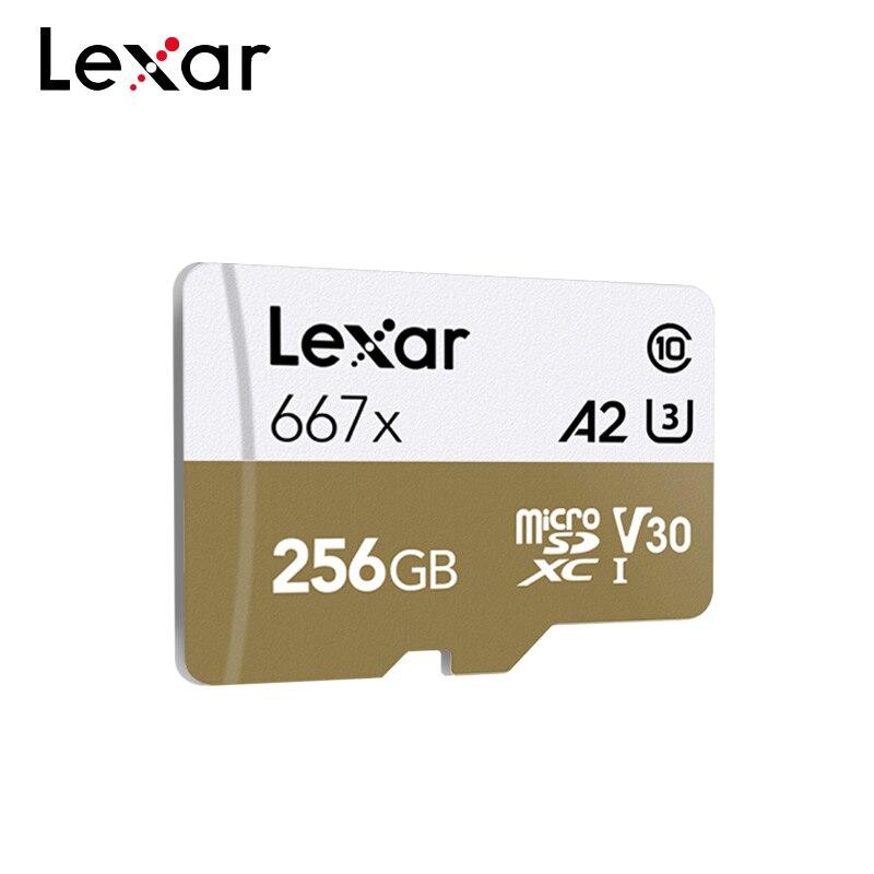 Lexar 667x cartão de memória 100 mb/s 64 gb 128 gb 256 gb a2 classe 10 profissional v30 UHS-I u3 cartão microsd para 1080p completo-hd 3d 4 k vídeo