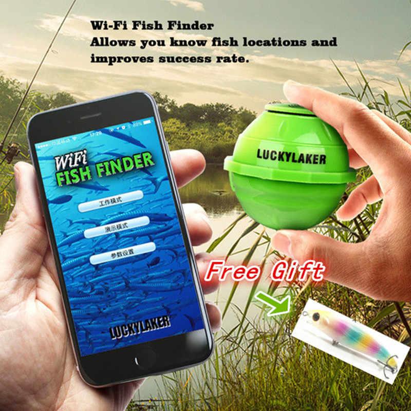 Глубже ультразвуковой локатор FF916 Wi-Fi Беспроводной рыбы прибор для обнаружения эхолокатор 50 м/130ft Морская рыбалка сигнализатор поклевки лодка эхолот обнаружения Finder