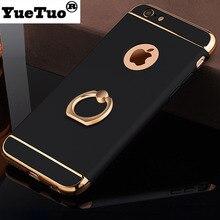 YUETUO роскошный пластиковый телефон копия, capinha, coque, чехол, чехол для apple iphone 8 плюс 7 плюс 8 плюс 7 плюс Стенд аксессуары я красный