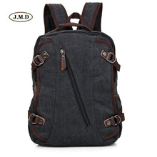 J.M.D High Quality Canvas Material Fashion Laptop Backpack Special Unique Design For College Student 9037