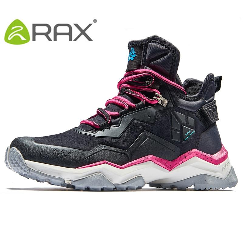 RAX chaussures de randonnée bottes de randonnée imperméables de Femmes avec Respirant En Cuir Supérieur et Anti-glissement En Caoutchouc Naturel chaussures à semelle extérieure Femmes