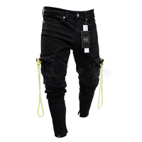 2019 Summer New Skinny Jeans Men Clothe Hole Trousers Distressed Jeans Pants Denim Male Plus Size C1321