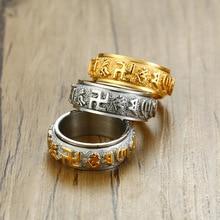 Mling вращающиеся кольца для свастики мужские кольца из нержавеющей стали для женщин мужской браслет религиозный буддистский ювелирные изделия на удачу Размер 6-13