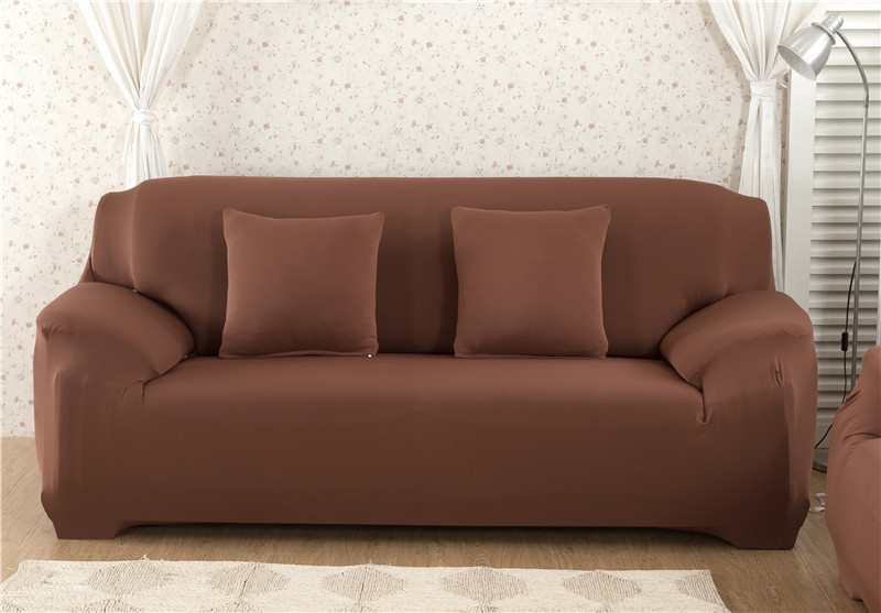 Solid Color Elastic Couch Cover made of Stretchable Material for Singe to 4 Seated Sofa in Living Room 28