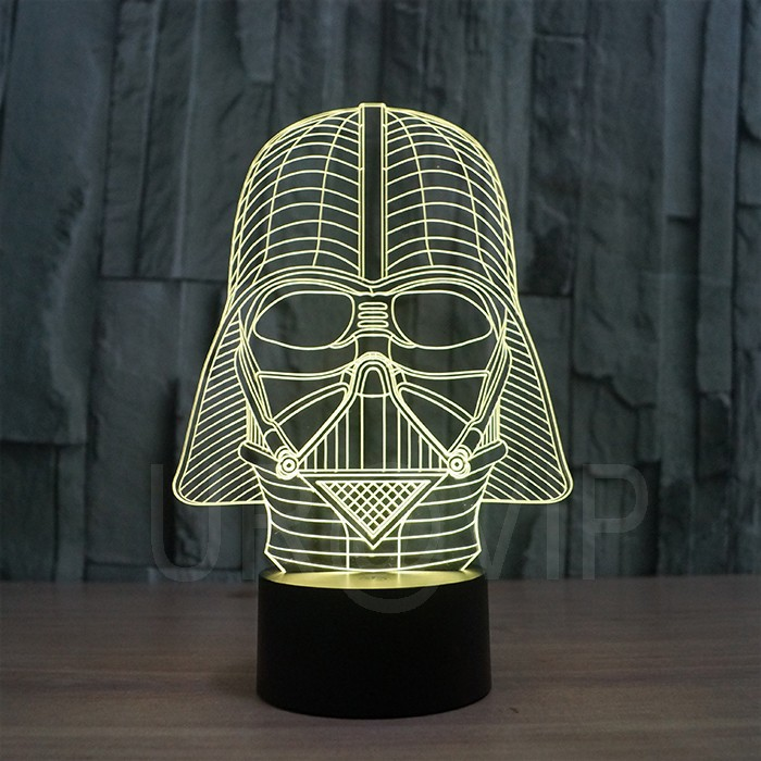 JC-2833  Amazing 3D Illusion led Table  Lamp Night Light with darth vader shape   (4)