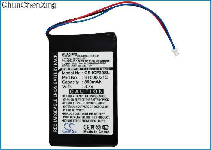 Recheargeable battery for Navman F20 850mAh Li-Ion