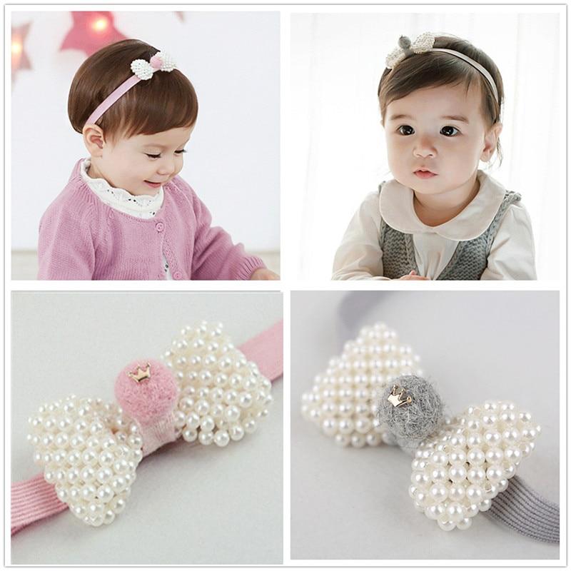 0ebf4a798bc TOP cute newborn kids pear headband head wear elastic hair