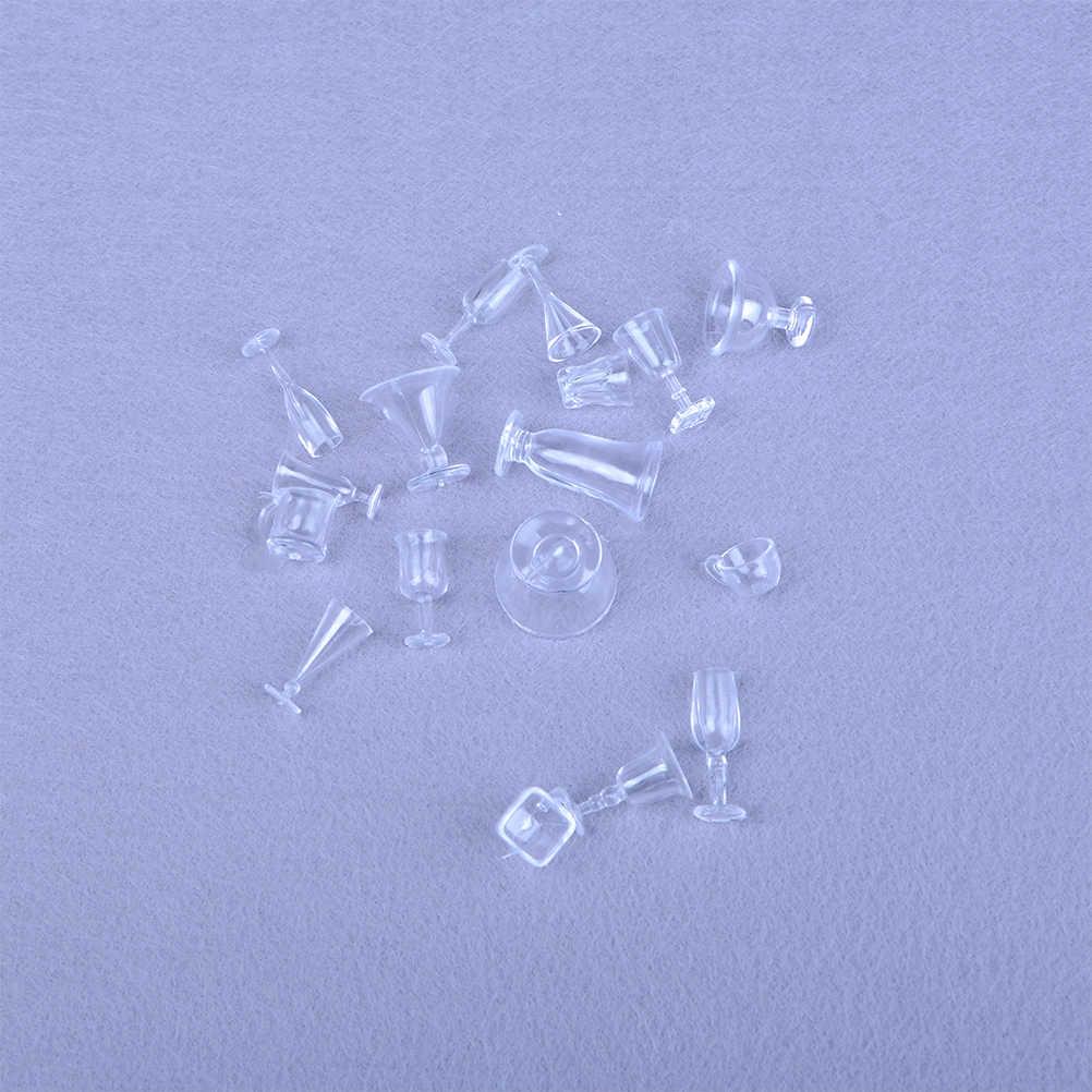 Sprzedaż hurtowa Mini akcesoria do żywności dla lalek Fit Toy Mini domek dla lalek miniaturowy napój kubeczki do lodów zestaw Model udawaj zagraj w 17 sztuk/zestaw