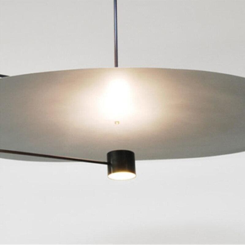 Image 2 - Post modern Minimalist Led Pendant Light Concise Designer Restaurant Dining Room Studio Suspension Light Fixtures Free Shipping-in Pendant Lights from Lights & Lighting