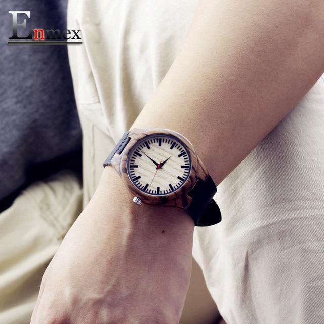 Zegarek męski drewno bambusowe Enmex 2 kolory