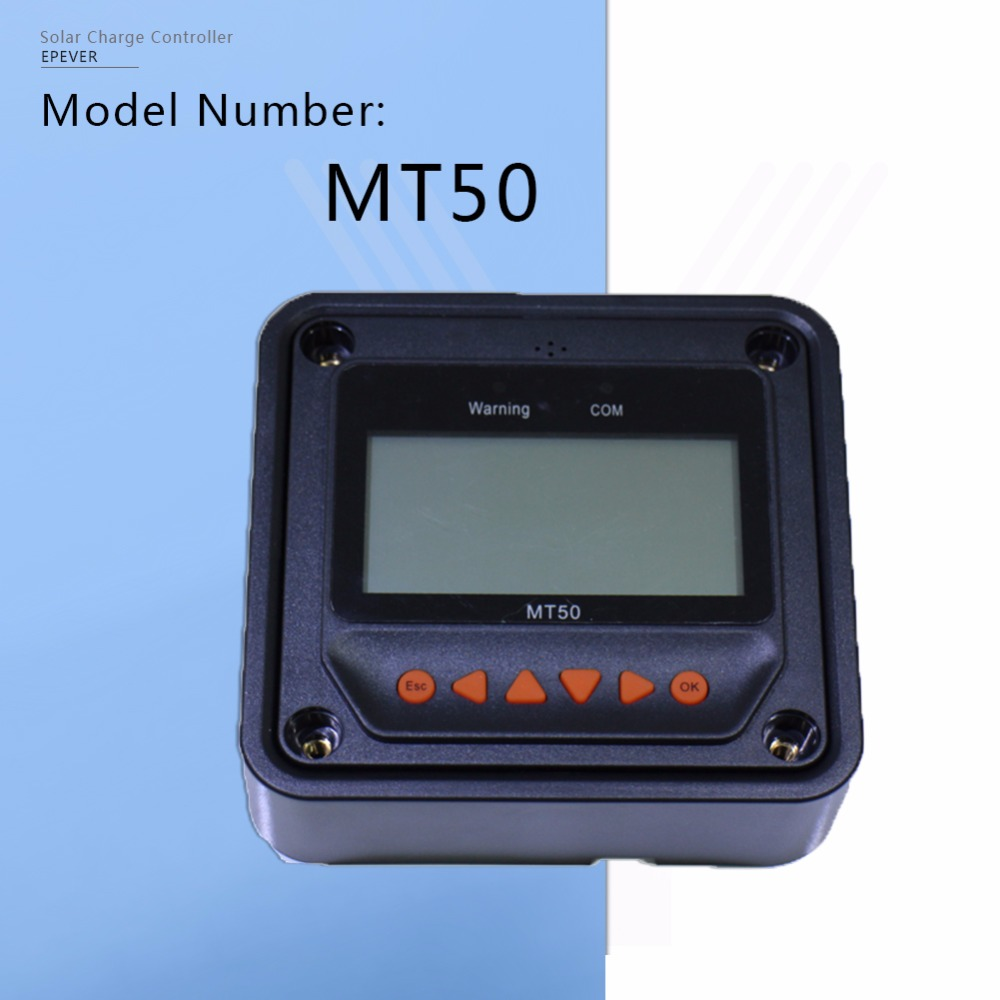 MT-50 Remote Meter for Tracer Series MPPT Solar Charge Controller and Program EPsolar Controller with LS-B,LS-BP,Tracer-A Series sm206 solar power meter for solar research