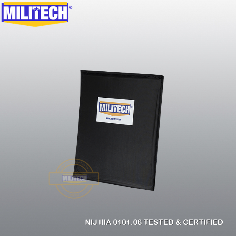 MILITECH NIJ IIIA 3A 11X14 SC Cut Ballistic Soft Armor Panel Plate Backer