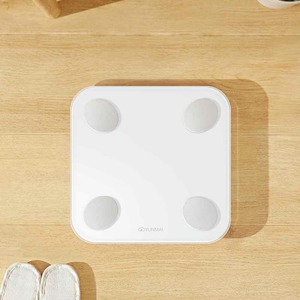 Xiaomi YUNMAI przenośny inteligentny waga do pomiaru tkanki tłuszczowej 2 mini stracić waga do użytku domowego dokładne dane ciała opieki zdrowotnej fitness dla człowieka kobieta dla dzieci