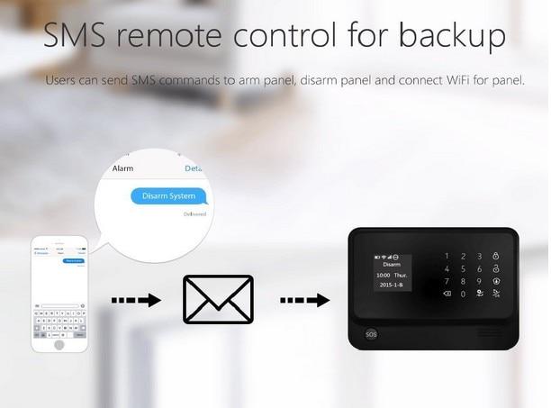 Yobang безопасности Wi-Fi GSM интеллектуальная домашняя камера наблюдения система Alarmas De Seguridad Para дома GSM Alarmas дом