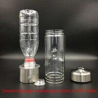 SPE PEM membrane Hydrogen Rich Water Bottle Titanium Ionizer Hydrogen Generator Water Maker Removable cap for PET bottle
