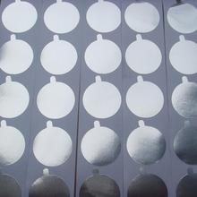 100 шт./лот, большие уплотнительные наклейки из алюминиевой фольги 38,3 мм для многоразового использования, капсулы с кофе, фильтры, крышки, самоклеющиеся этикетки