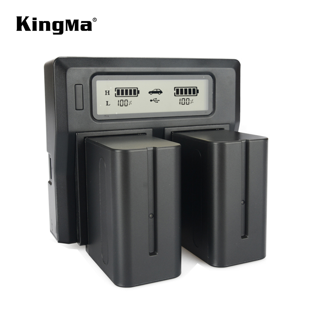 KingMa LCD Dual Fast Charger For SONY NP-F960 NP-F970 NP F960 F970 Rechargeable Battery And HVR-HD1000 HVR-HD1000E HVR-V1J