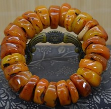 Amber beeswax beads bracelet with the hand prayer beads jiuduo natural colorful amber beeswax bracelet hand with women identification design factory direct special package mail