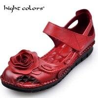 2018 Women Leather Sandals Comfortable Soft Soles Shoes Women Flats Sandals Fashion Summer Shoes Woman Sandals