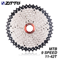 ZTTO MTB  9 S 27S 9Speed 11  42T Freewheel Mountain Bike Bicycle Parts Cassette WIDE RATIO Compatible For M430 M4000|Bicycle Freewheel|   -