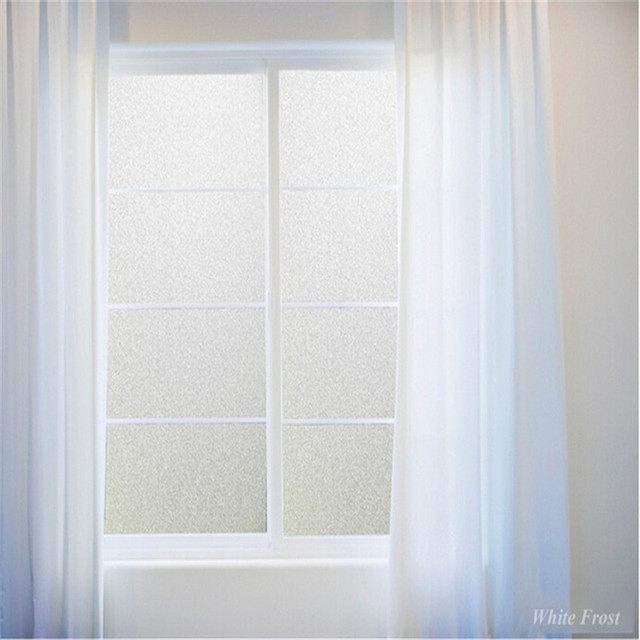 Frosted Window Film Decorative Sticker Static Cling Privacy Home Decor For Bedroom Bathroom Office Bumper