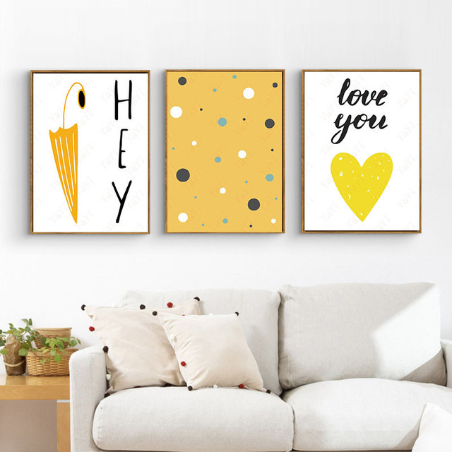 HAOCHU Home Office Decor Painting Cartoon Abstract Letter Backdrop ...