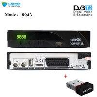 Newest DVB T2 terrestrial digital receiver supports Dolby AC3 H.265 / HEVC DVB T h265 hevc dvb t2 hot Sale Europe with USB WIFI