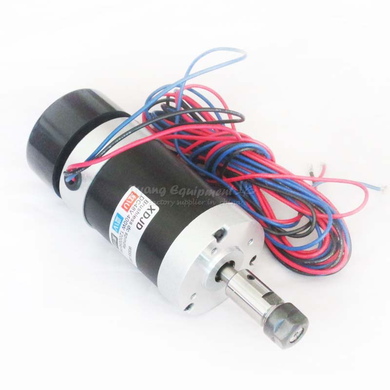 Powerful 400W Brushless Spindle Motor ER11 DC CNC Spindle 48V C00004 new er11 48v 400w brushless spindle motor drive kits high speed with dc motor drive spindle controller cnc diy milling machine