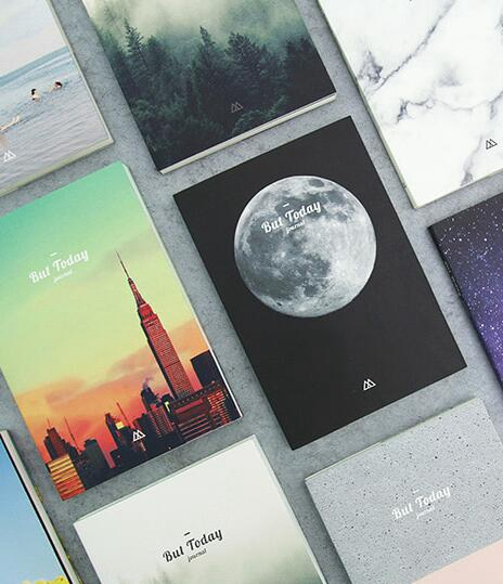 Moon And Universe Theme Creative Nature Theme Undated Monthly Weekly Planner 176P Korean Fashion Diary Journal Notebook Gift sosw fashion anime theme death note cosplay notebook new school large writing journal 20 5cm 14 5cm